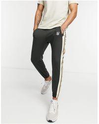 SIKSILK Premium Tape Track Pants - Black
