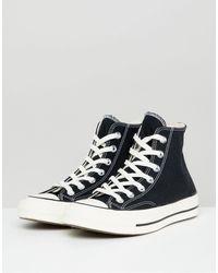 Converse Черные Высокие Кеды - Черный