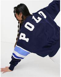 Polo Ralph Lauren Темно-синий Свитшот С Логотипом В Университетском Стиле