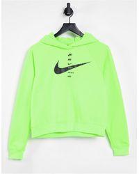 Nike Зеленый Худи С Логотипом-галочкой -зеленый Цвет