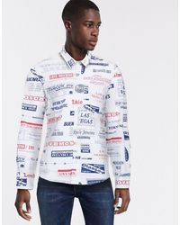 Love Moschino Рубашка С Принтом -белый