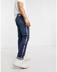 Polo Ralph Lauren Polo Sport Capsule Varick Straight Fit Logo Taping Jeans - Blue