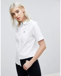 Fred Perry - Short Sleeve Oxford Shirt - Lyst