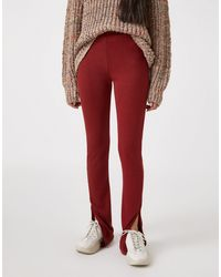 Pull&Bear - Рыжие Мягкие Леггинсы От Комплекта -светло-коричневый - Lyst