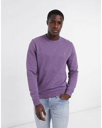 Farah Фиолетовый Свитшот С Круглым Вырезом И Логотипом - Пурпурный