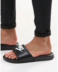 Nike Черные Шлепанцы Benassi Jdi-черный Цвет