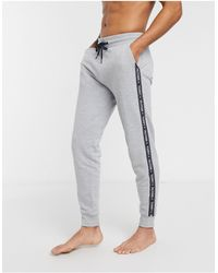 Tommy Hilfiger Authentic Cuffed Lounge joggers Side Logo Taping - Grey