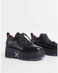 Bronx - Zapatillas deportivas negras con plataforma plana gruesa - Lyst