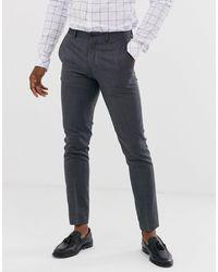 Jack & Jones Серые Облегающие Эластичные Брюки Premium-серый