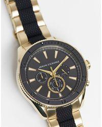 Armani Exchange Наручные Часы С Браслетом Черного/золотого Цвета Ax1814 Enzo-черный Цвет