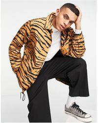 AllSaints Luca - Veste à imprimé tigre - Orange