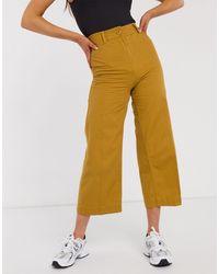 Weekday Bessie Pants-brown