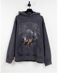 Jaded London Oversized Arizona Hoodie - Black