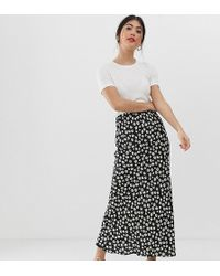a3e277f4ed ASOS - Asos Design Petite Daisy Print Bias Cut Maxi Skirt - Lyst