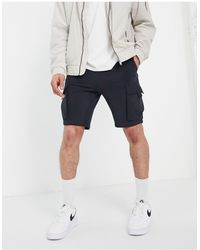 Only & Sons Shorts negros cargo