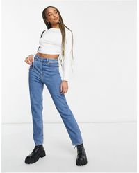 ASOS - Farleigh - Mom jeans slim a vita alta - Lyst