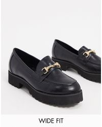 Raid Wide Fit Empire Chunky Loafers - Black