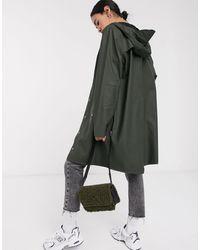 Rains Зеленая Длинная Водонепроницаемая Куртка -зеленый - Многоцветный