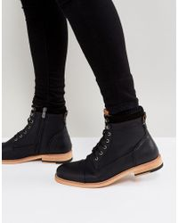 Call It Spring - Rosciolo Lace Up Boots In Black - Lyst