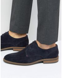 Tommy Hilfiger Daytona Suede Derby Shoes - Blue