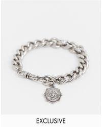 Reclaimed (vintage) Серебристый Браслет-цепочка С Медальоном В Римском Стиле Inspired - Металлик