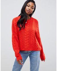 ASOS Cable Sweater - Orange