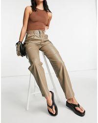 ASOS Pantalones beis holgados - Multicolor