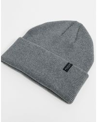 SELECTED Cotton Beanie - Gray