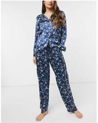 Vero Moda Satin Pyjama Set - Blue