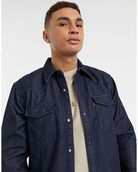 Levi's Выбеленная Джинсовая Рубашка Свободного Кроя В Стиле Вестерн Из Проклеенного Денима Barstow-синий