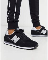 New Balance Черные Кроссовки 373-черный