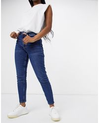 Vero Moda – Joana – Mom-Stretchjeans - Blau