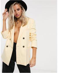 Bershka Oversized Blazer Co-ord - Yellow