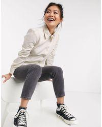 Miss Selfridge Chemise en jean - cassé - Blanc