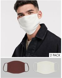 Reclaimed (vintage) Unisex 5 Pack Face Coverings - Multicolour