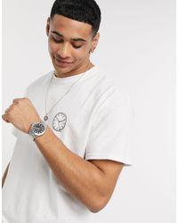 New Look - – Time and Money – Oversize-T-Shirt mit Aufdruck - Lyst