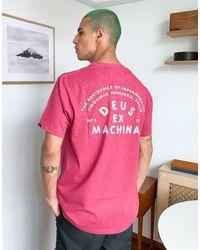 Deus Ex Machina - Roller - T-shirt con stampa di indirizzo di Tokyo sul retro rosa - Lyst