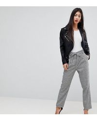 Miss Selfridge - Checked Tailored Trousers - Lyst