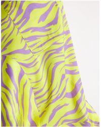 Collusion Plus Exclusive Zebra Print Satin Shirt Co-ord - Yellow