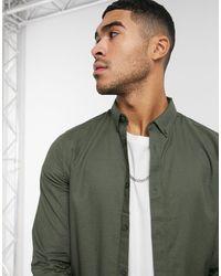 Burton Camicia Oxford skinny a maniche lunghe - Verde