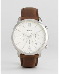 Fossil FS5380 Neutra - Montre chronographe à bracelet en cuir - Marron