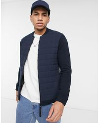 Only & Sons Premium Puffer And Knit Jacket - Blue