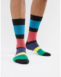 Paul Smith - Ps Block Stripe Socks - Lyst