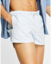New Look – kurze badeshorts - Blau