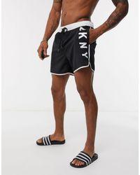 DKNY Logo Runner Swim Shorts - Black