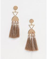 South Beach Tassle Earrings - Pink