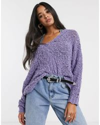 Free People Sunday Shore - Pullover - Paars