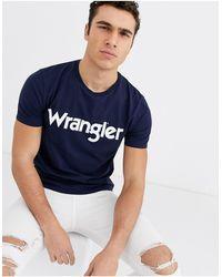 Wrangler Темно-синяя Футболка С Логотипом -темно-синий
