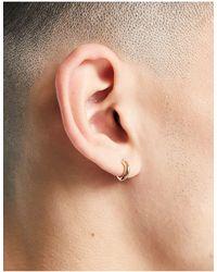 TOPMAN huggie Earrings - Metallic