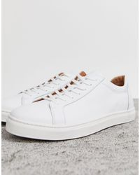 SELECTED Premium Leather Sneaker - White